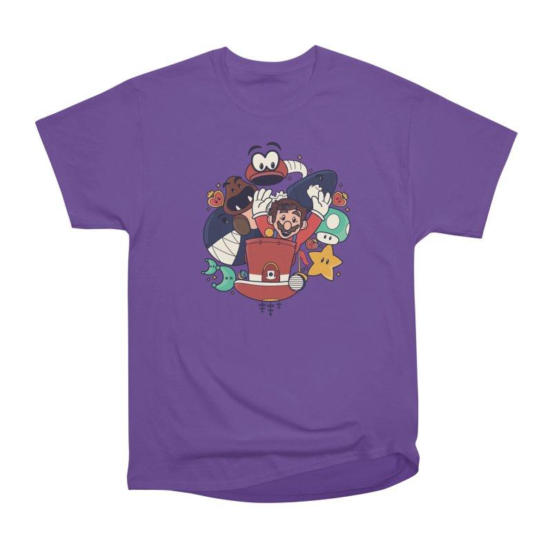 Mario Switch-in It Up Men's Heavyweight T-Shirt by Kadusaurus's Shop