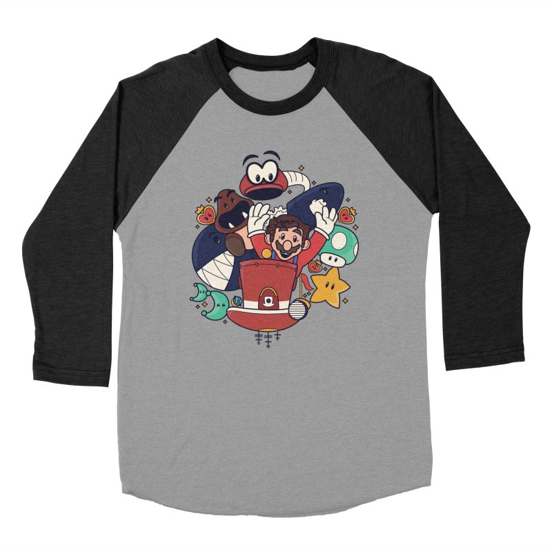 Mario Switch-in It Up Men's Baseball Triblend Longsleeve T-Shirt by Kadusaurus's Shop