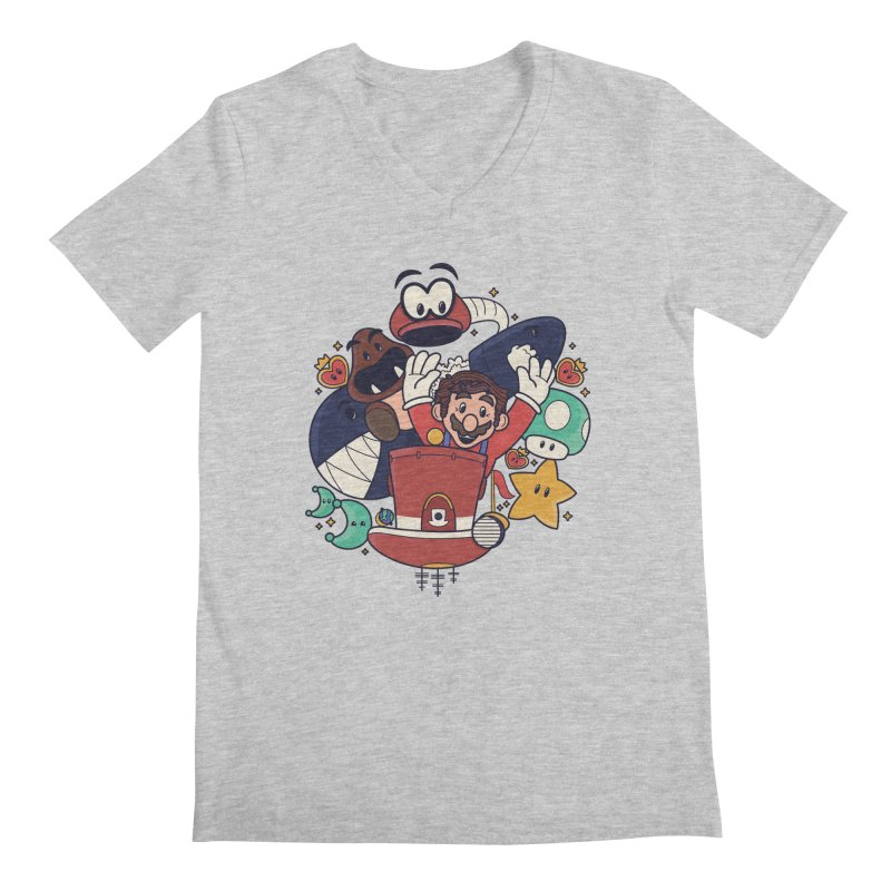 Mario Switch-in It Up Men's Regular V-Neck by Kadusaurus's Shop