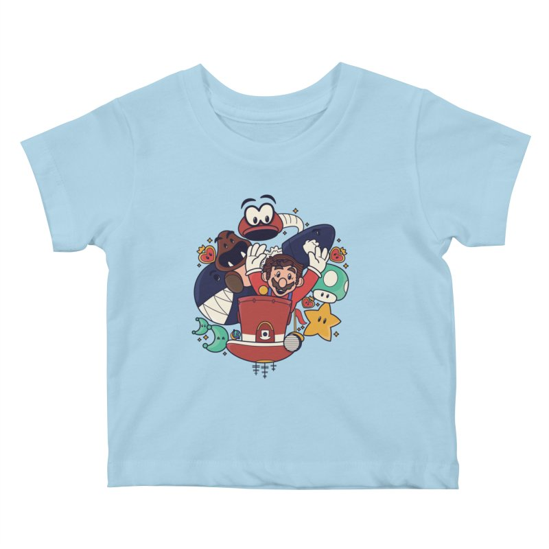 Mario Switch-in It Up Kids Baby T-Shirt by Kadusaurus's Shop