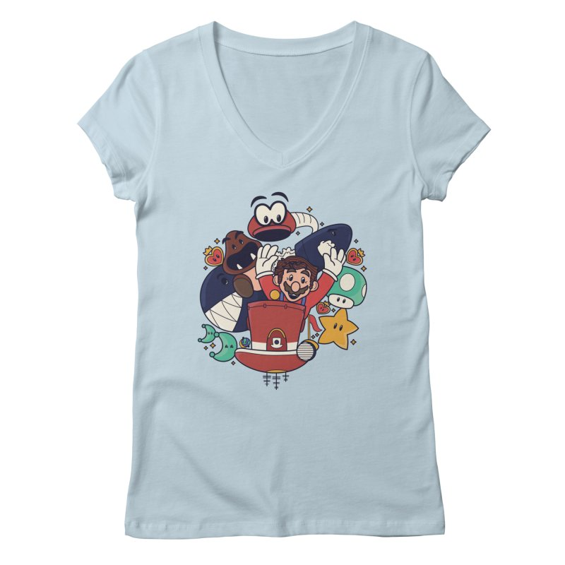 Mario Switch-in It Up Women's V-Neck by Kadusaurus's Shop