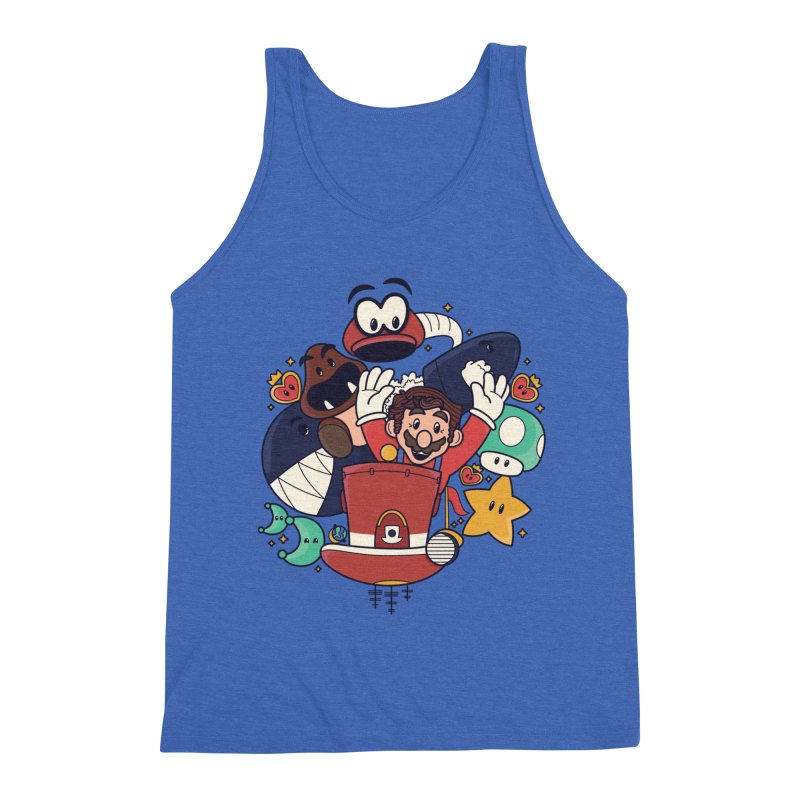 Mario Switch-in It Up Men's Triblend Tank by Kadusaurus's Shop