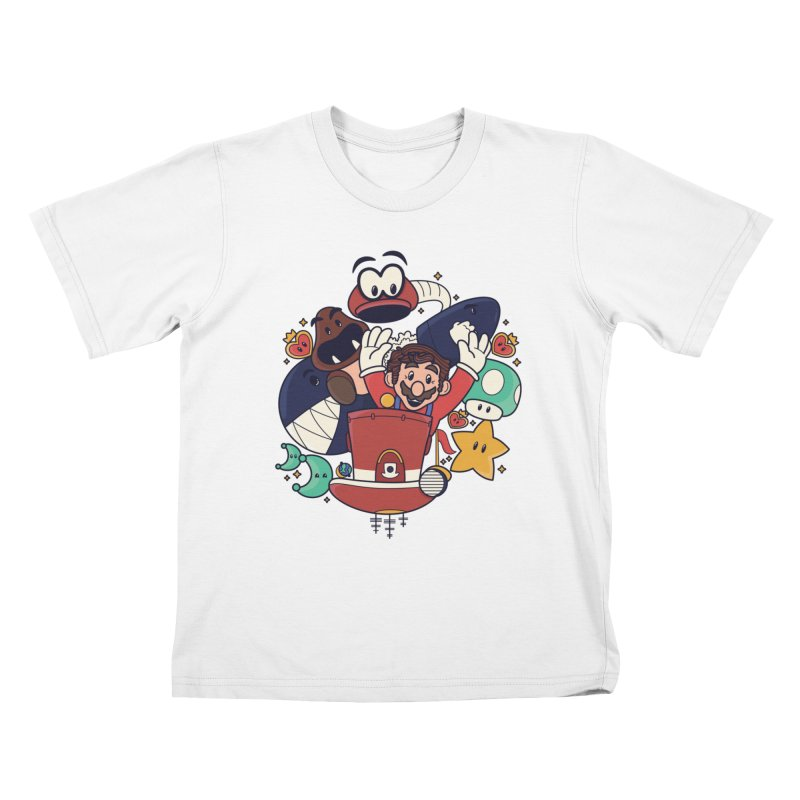 Mario Switch-in It Up Kids T-Shirt by Kadusaurus's Shop
