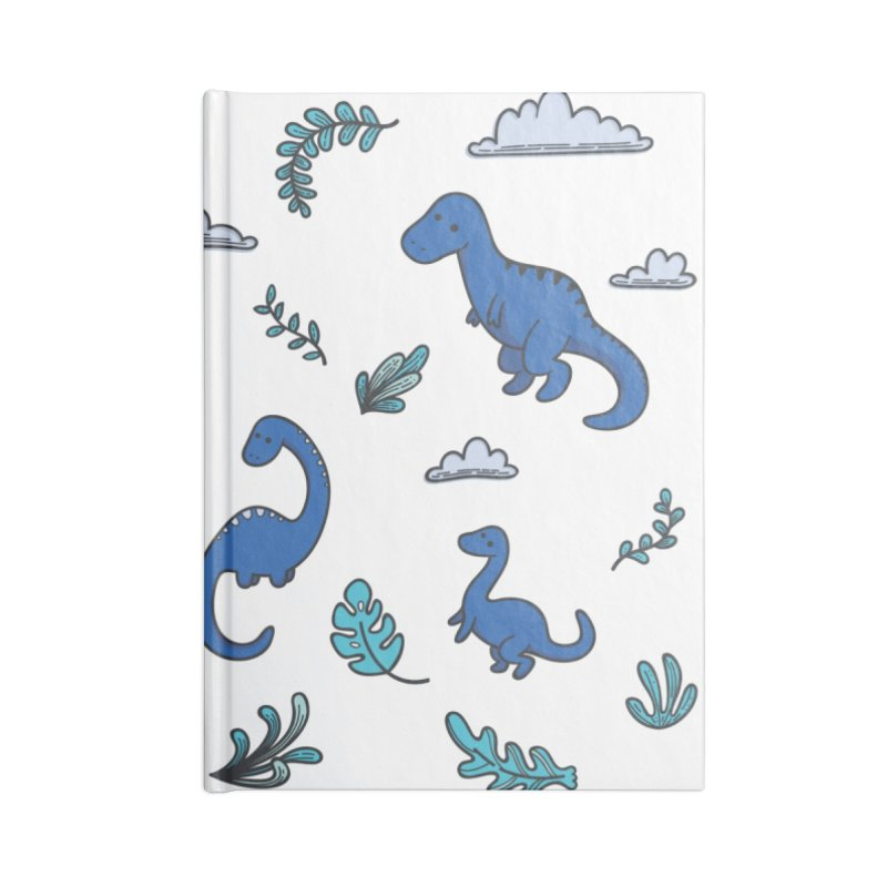Prehistoric Cute Accessories Lined Journal Notebook by Kadusaurus's Shop