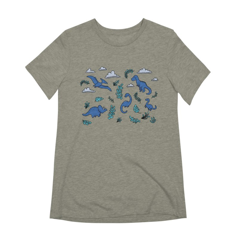 Prehistoric Cute Women's Extra Soft T-Shirt by Kadusaurus's Shop
