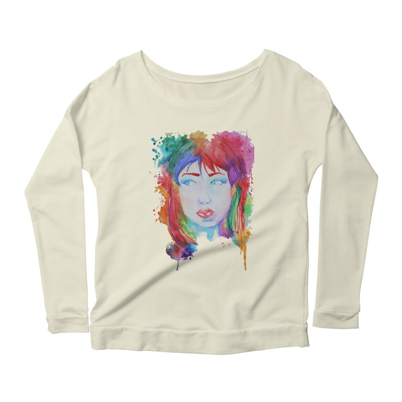 Electric Gal Women's Longsleeve Scoopneck  by Kaela's Shop