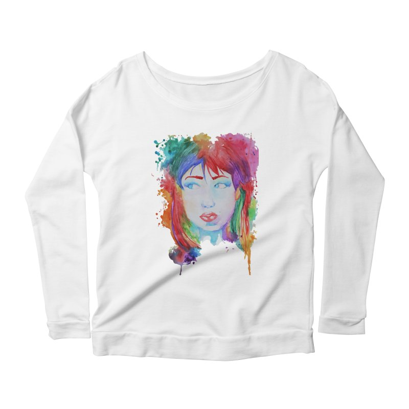 Electric Gal Women's Scoop Neck Longsleeve T-Shirt by Kaela's Shop