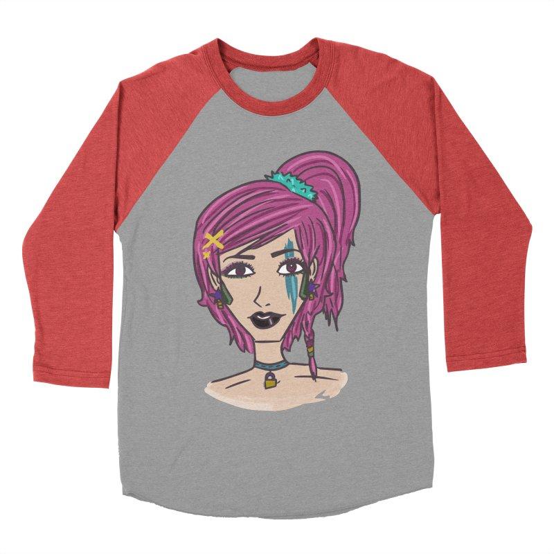 Aleksa Zip Men's Baseball Triblend T-Shirt by Kaela's Shop