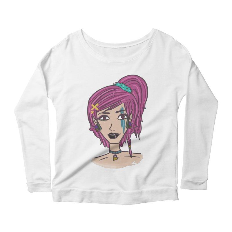 Aleksa Zip Women's Scoop Neck Longsleeve T-Shirt by Kaela's Shop