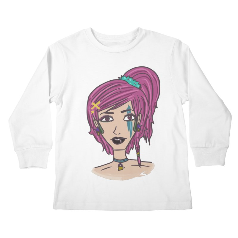 Aleksa Zip Kids Longsleeve T-Shirt by Kaela's Shop