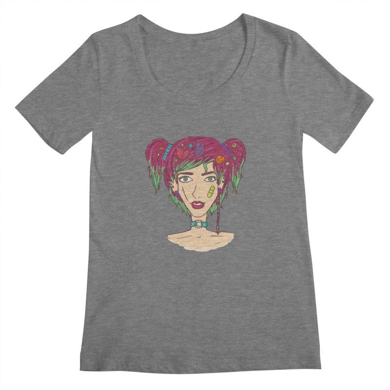 Roxy Fliss Women's Scoopneck by Kaela's Shop