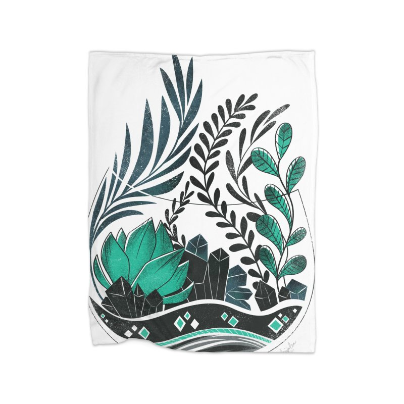 Emerald Terrarium Home Fleece Blanket Blanket by Kaija Lea Art Shop // Prints, Gifts + Home Goods