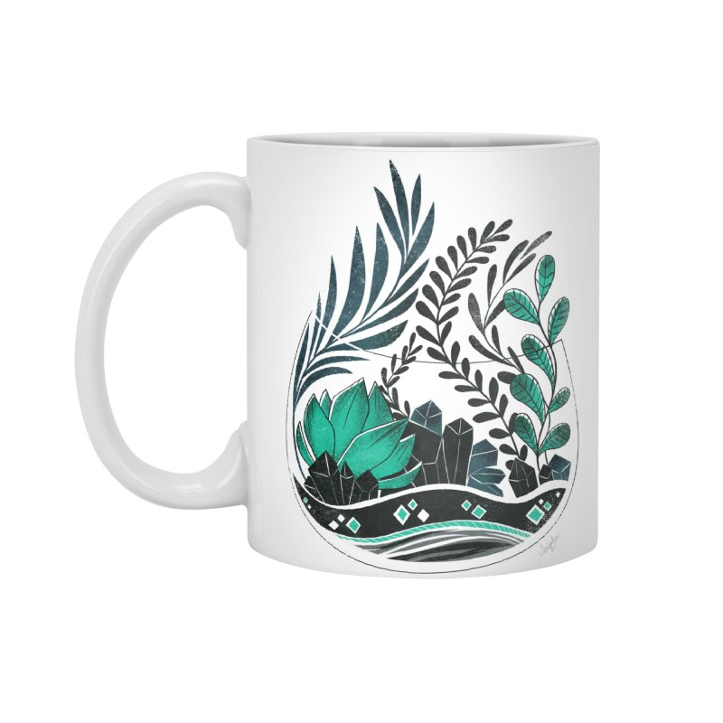 Emerald Terrarium Accessories Mug by Kaija Lea Art Shop // Prints, Gifts + Home Goods
