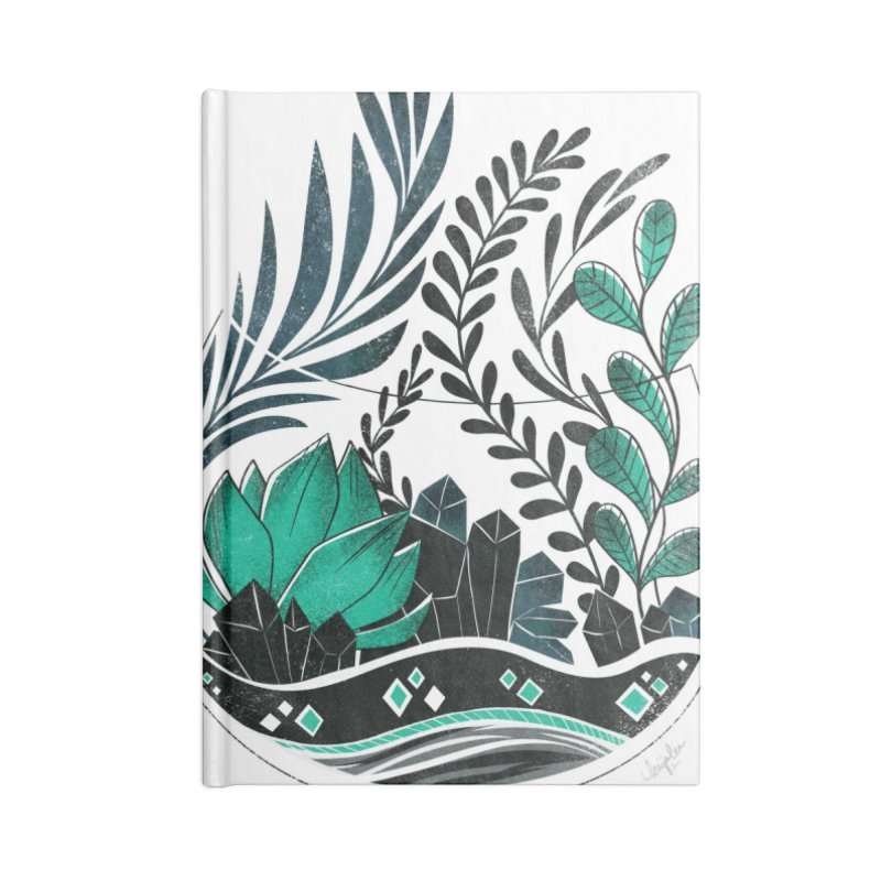 Emerald Terrarium Accessories Notebook by Kaija Lea Art Shop // Prints, Gifts + Home Goods