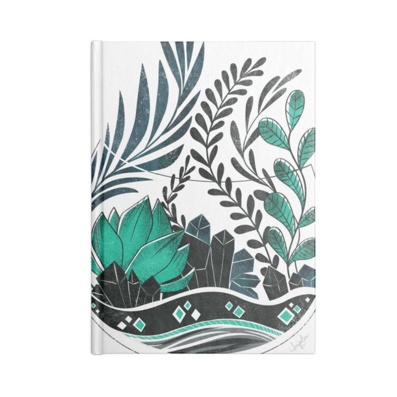 Emerald Terrarium Accessories Lined Journal Notebook by Kaija Lea Art Shop // Prints, Gifts + Home Goods