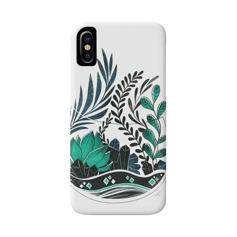 Emerald Terrarium Accessories Phone Case by Kaija Lea Art Shop // Prints, Gifts + Home Goods