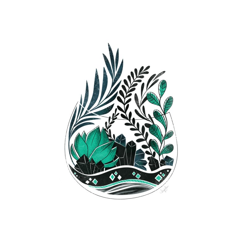 Emerald Terrarium by Kaija Lea Art Shop // Prints, Gifts + Home Goods