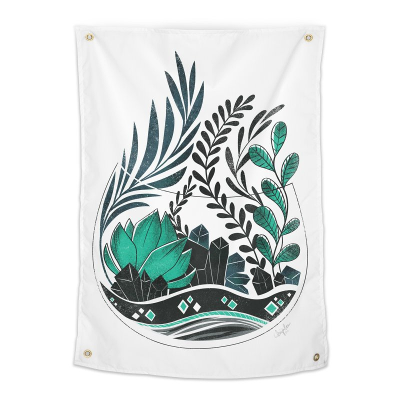 Emerald Terrarium Home Tapestry by Kaija Lea Art Shop // Prints, Gifts + Home Goods