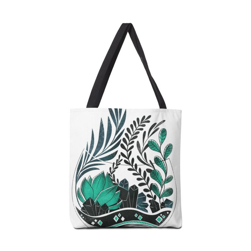 Emerald Terrarium Accessories Tote Bag Bag by Kaija Lea Art Shop // Prints, Gifts + Home Goods