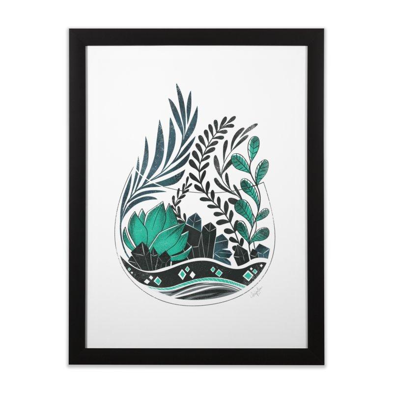 Emerald Terrarium Home Framed Fine Art Print by Kaija Lea Art Shop // Prints, Gifts + Home Goods