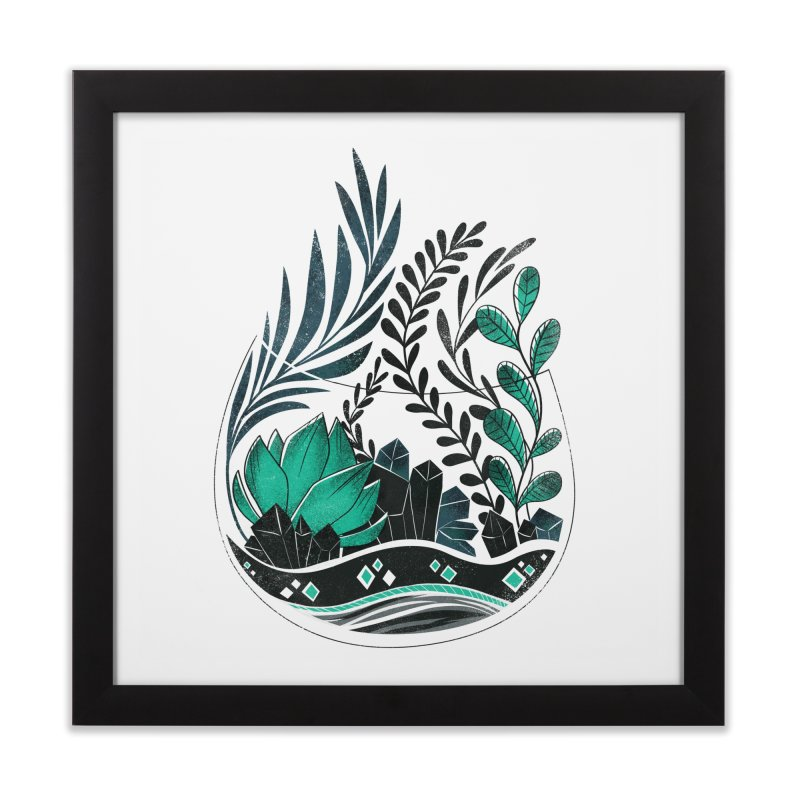 Emerald Terrarium Home Framed Fine Art Print by Kaija Lea Art Shop // Prints, Gifts + Home Goods