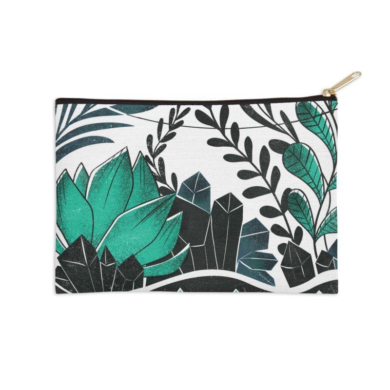 Emerald Terrarium Accessories Zip Pouch by Kaija Lea Art Shop // Prints, Gifts + Home Goods