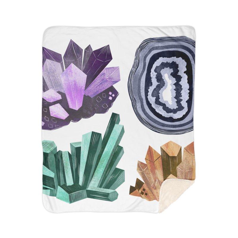 Vintage Gemstone - Chart 01 Home Sherpa Blanket Blanket by Kaija Lea Art Shop // Prints, Gifts + Home Goods
