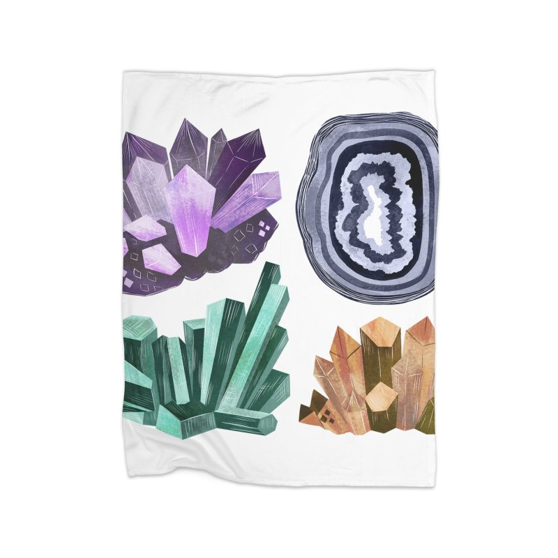 Vintage Gemstone - Chart 01 Home Fleece Blanket Blanket by Kaija Lea Art Shop // Prints, Gifts + Home Goods