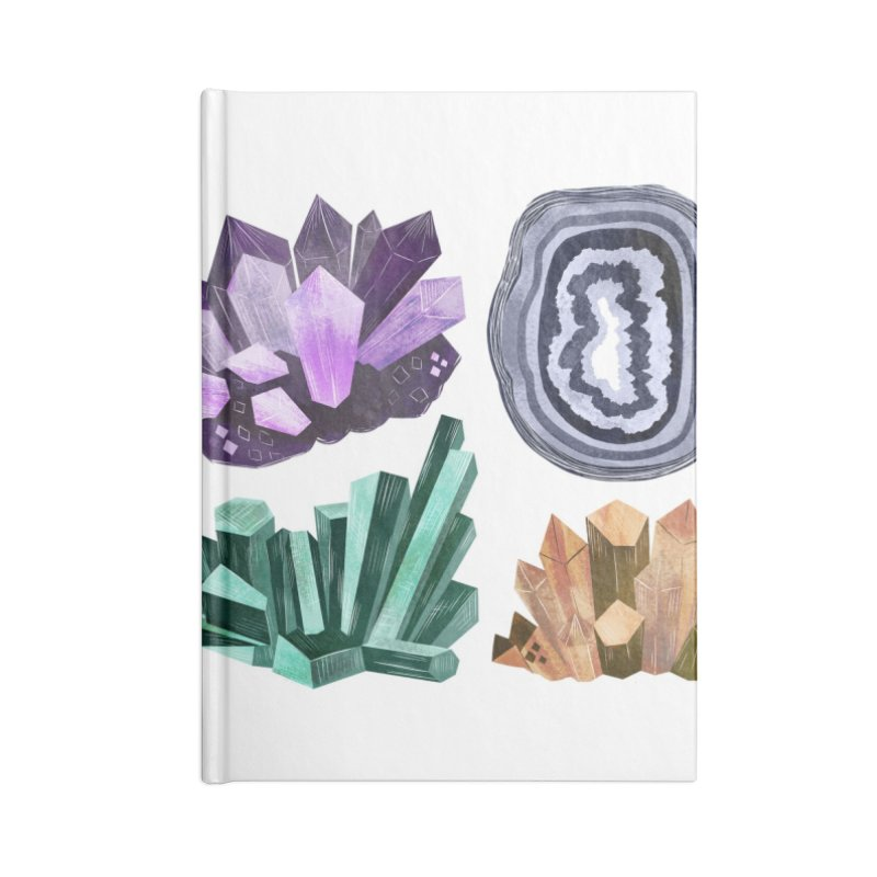 Vintage Gemstone - Chart 01 Accessories Lined Journal Notebook by Kaija Lea Art Shop // Prints, Gifts + Home Goods