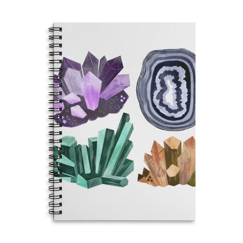 Vintage Gemstone - Chart 01 Accessories Lined Spiral Notebook by Kaija Lea Art Shop // Prints, Gifts + Home Goods