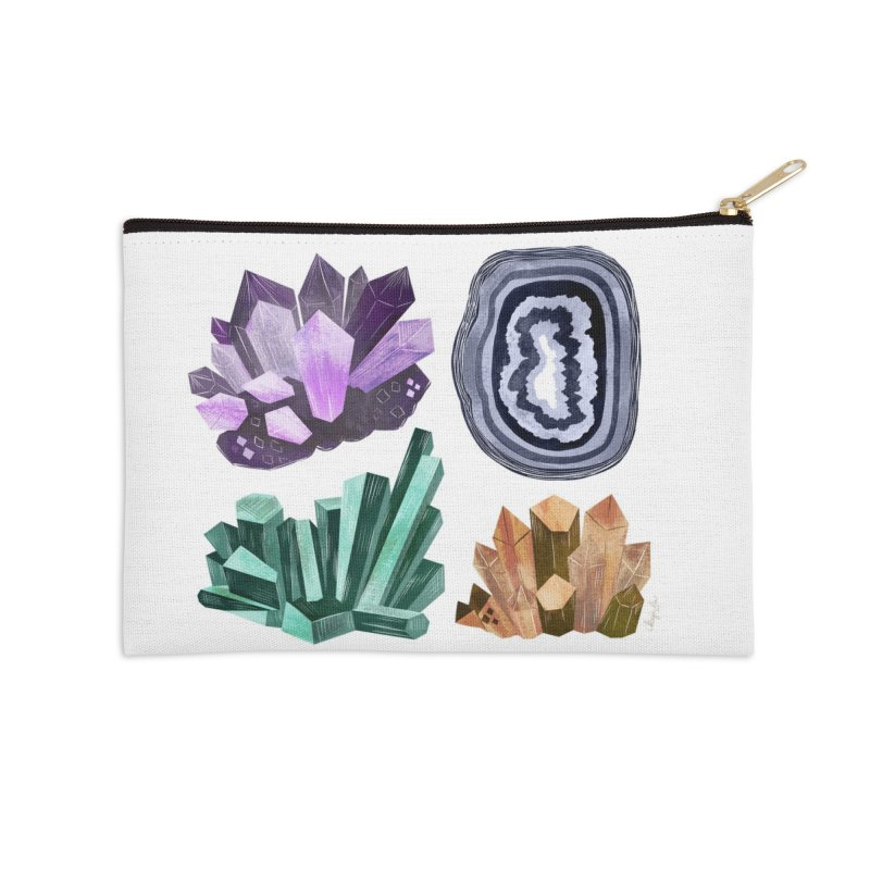 Vintage Gemstone - Chart 01 Accessories Zip Pouch by Kaija Lea Art Shop // Prints, Gifts + Home Goods
