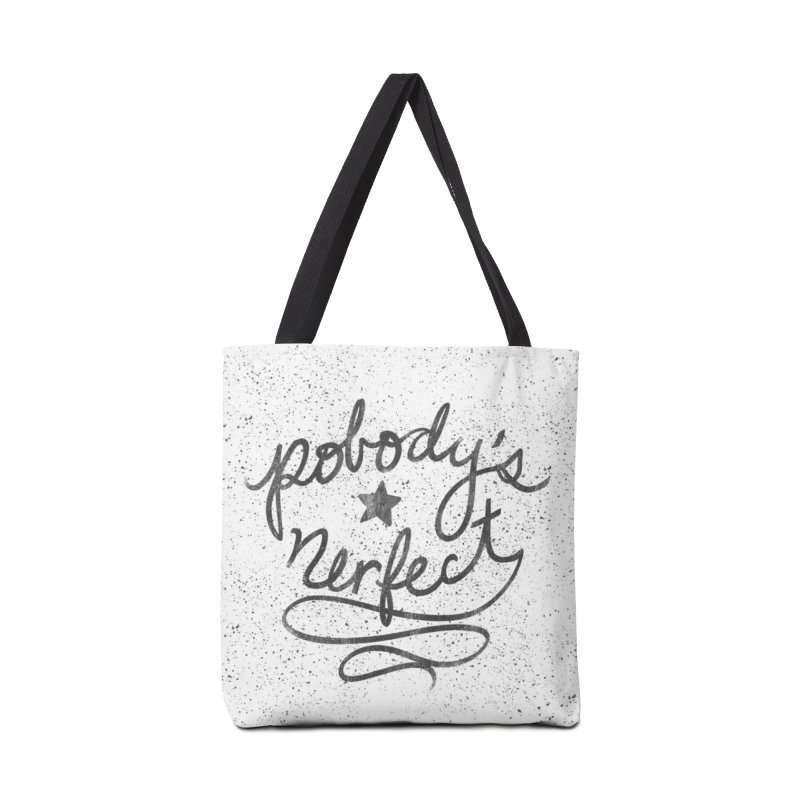 Pobody's Nerfect - Typography Art Accessories Bag by Kaija Lea Art Shop // Prints, Gifts + Home Goods