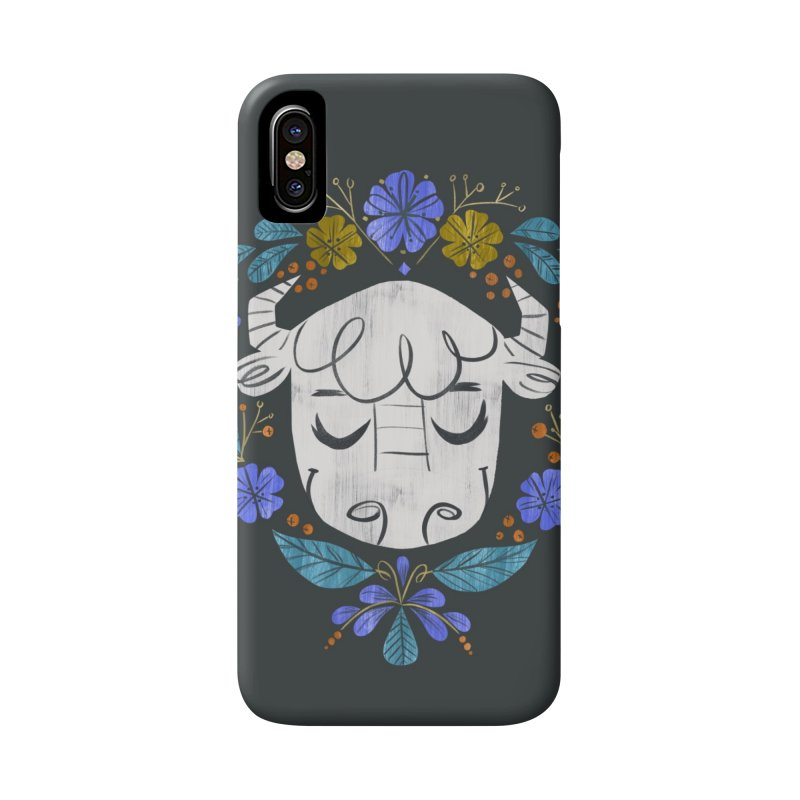 Midwest Bison - Vintage Flora Series Accessories Phone Case by Kaija Lea Art Shop // Prints, Gifts + Home Goods