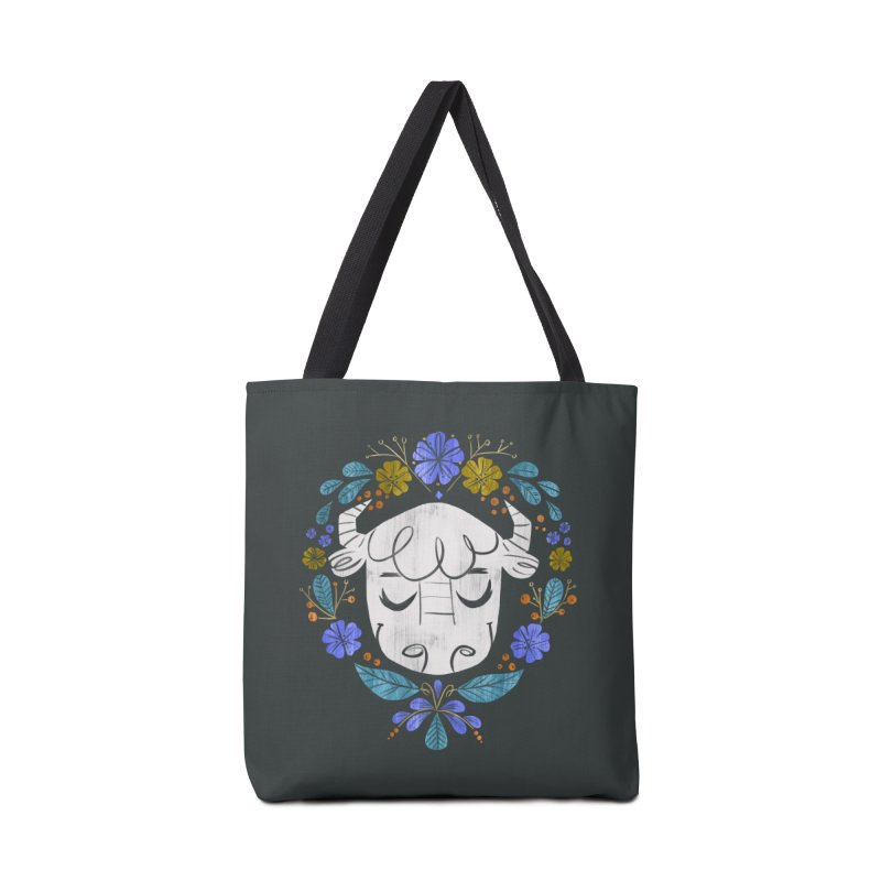 Midwest Bison - Vintage Flora Series Accessories Tote Bag Bag by Kaija Lea Art Shop // Prints, Gifts + Home Goods