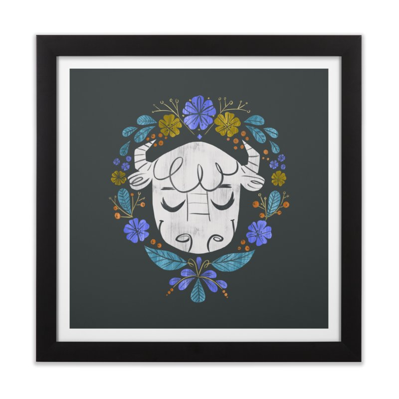 Midwest Bison - Vintage Flora Series Home Framed Fine Art Print by Kaija Lea Art Shop // Prints, Gifts + Home Goods