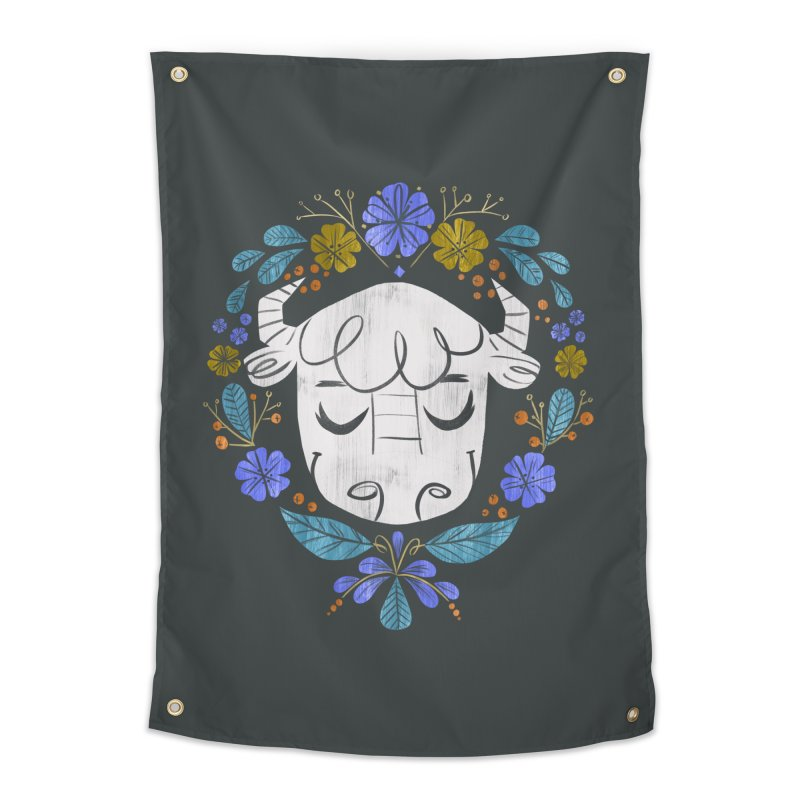 Midwest Bison - Vintage Flora Series Home Tapestry by Kaija Lea Art Shop // Prints, Gifts + Home Goods