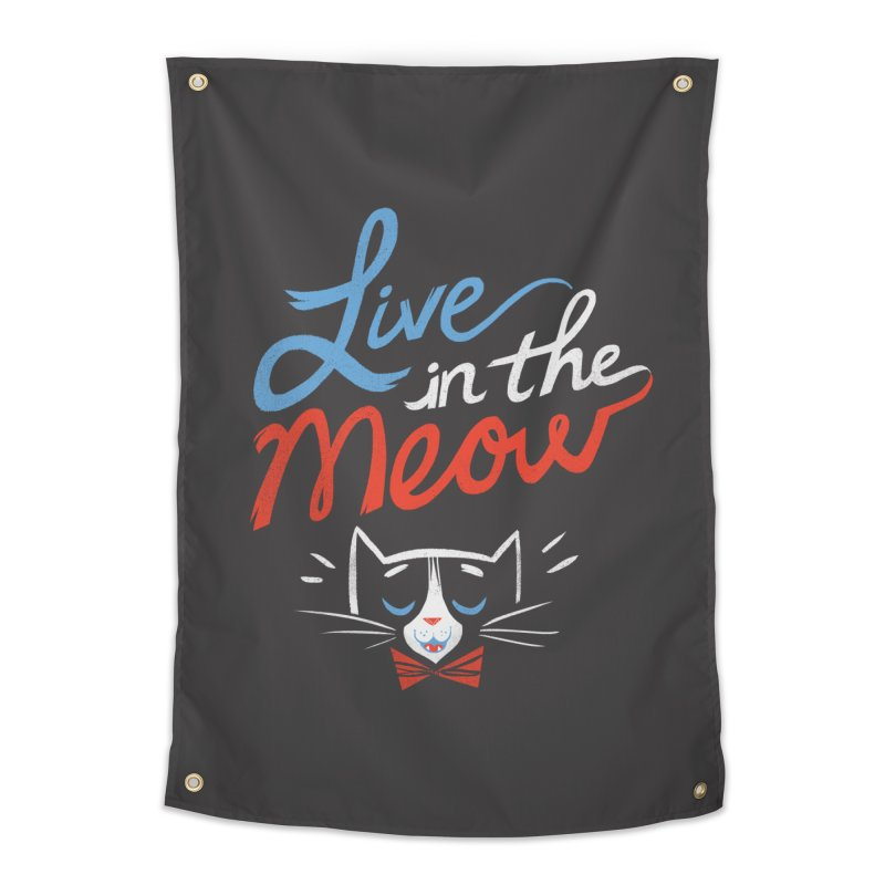 Live in the Meow Home Tapestry by Kaija Lea Art Shop // Prints, Gifts + Home Goods