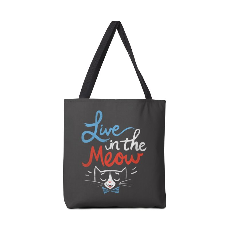 Live in the Meow in Tote Bag by Kaija Lea Art Shop // Prints, Gifts + Home Goods