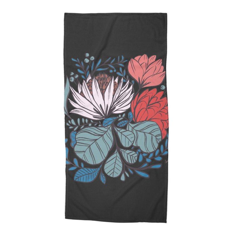 Big Leaf Botanical Accessories Beach Towel by Kaija Lea Art Shop // Prints, Gifts + Home Goods