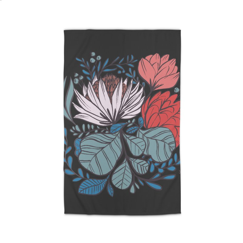 Big Leaf Botanical Home Rug by Kaija Lea Art Shop // Prints, Gifts + Home Goods
