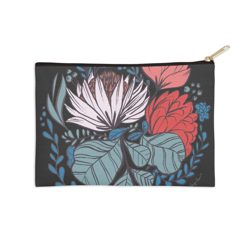Big Leaf Botanical Accessories Zip Pouch by Kaija Lea Art Shop // Prints, Gifts + Home Goods