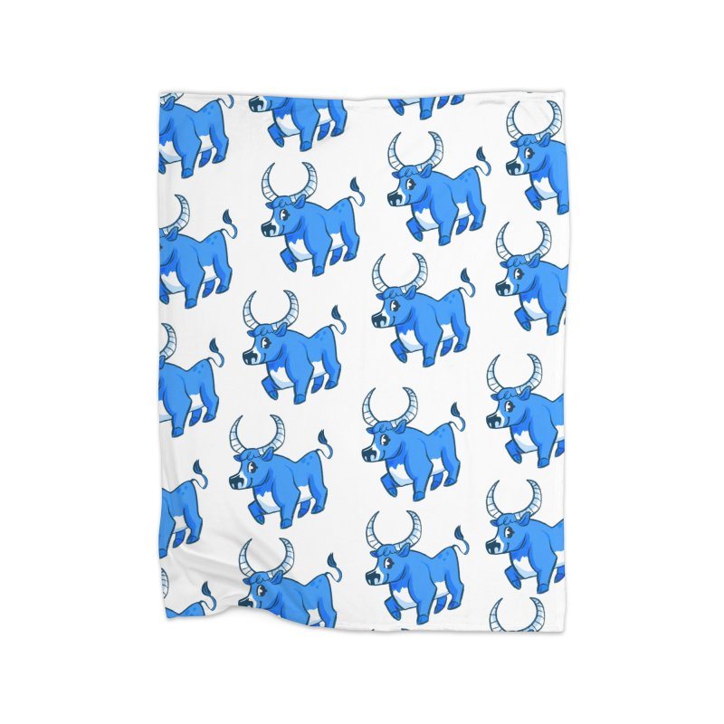 Babe the Blue Home Fleece Blanket Blanket by Kaija Lea Art Shop // Prints, Gifts + Home Goods