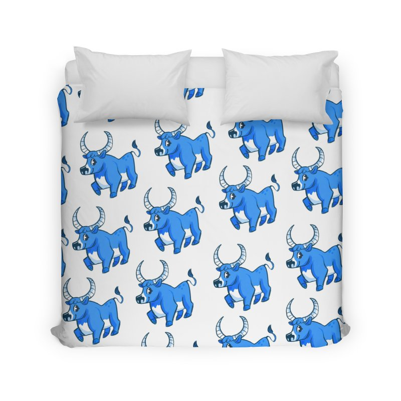 Babe the Blue Home Duvet by Kaija Lea Art Shop // Prints, Gifts + Home Goods