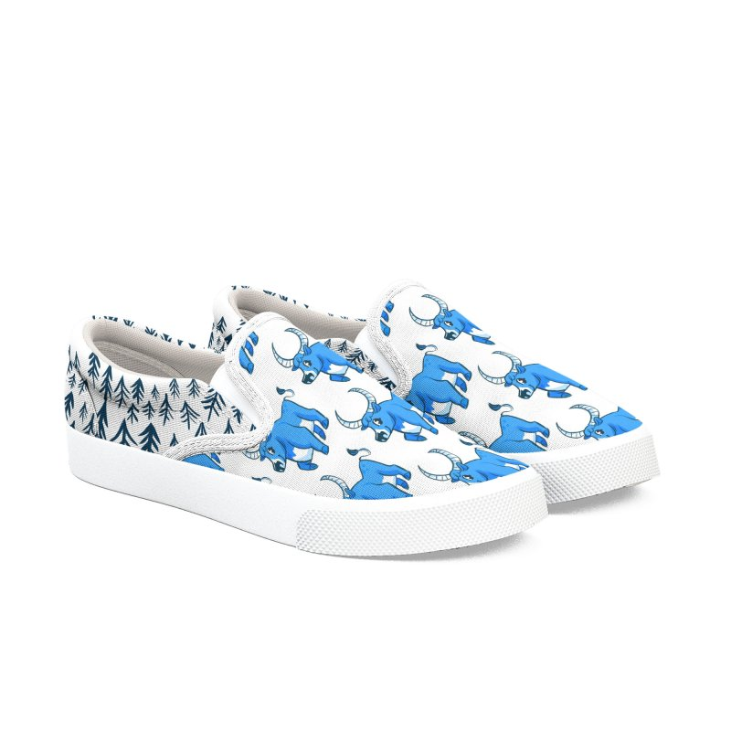 Babe the Blue Men's Slip-On Shoes by Kaija Lea Art Shop // Prints, Gifts + Home Goods