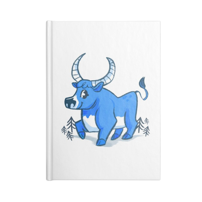Babe the Blue Accessories Lined Journal Notebook by Kaija Lea Art Shop // Prints, Gifts + Home Goods