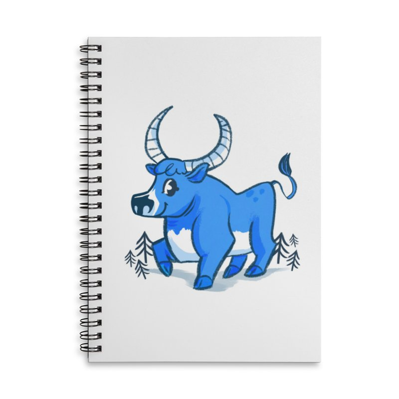 Babe the Blue Accessories Lined Spiral Notebook by Kaija Lea Art Shop // Prints, Gifts + Home Goods