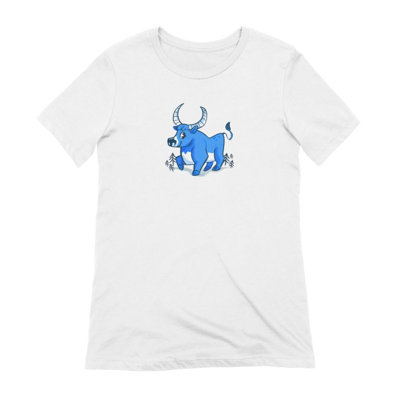 Babe the Blue Women's Extra Soft T-Shirt by Kaija Lea Art Shop // Prints, Gifts + Home Goods