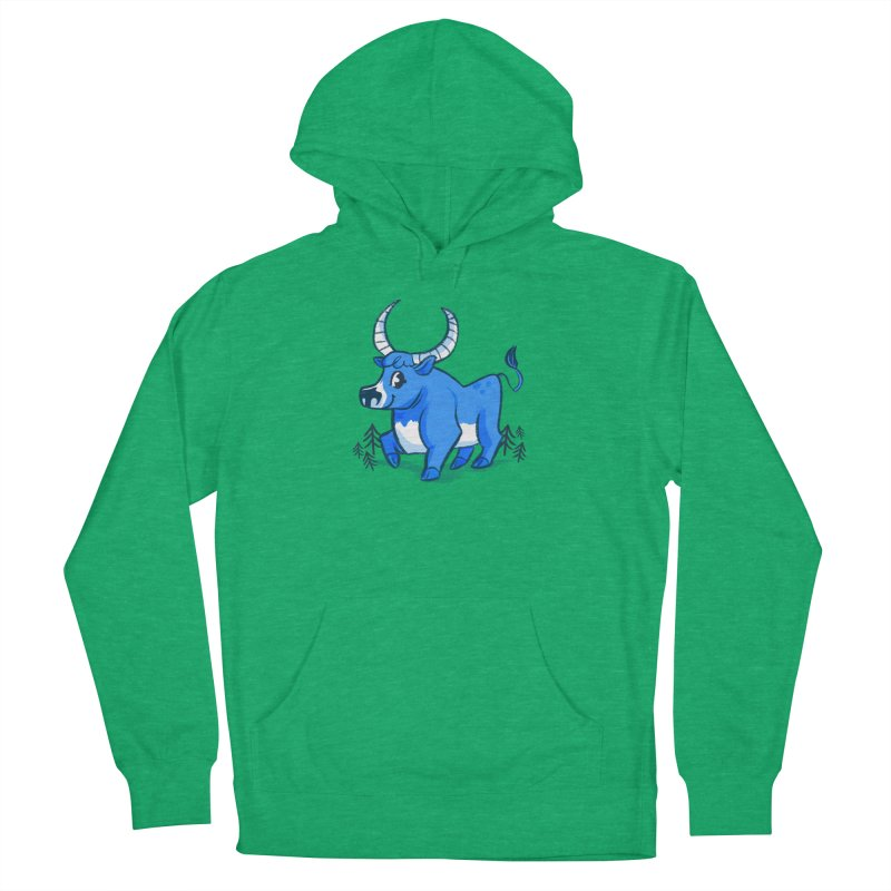 Babe the Blue Women's French Terry Pullover Hoody by Kaija Lea Art Shop // Prints, Gifts + Home Goods