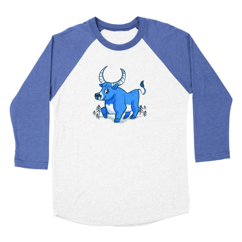 Babe the Blue Men's Baseball Triblend Longsleeve T-Shirt by Kaija Lea Art Shop // Prints, Gifts + Home Goods