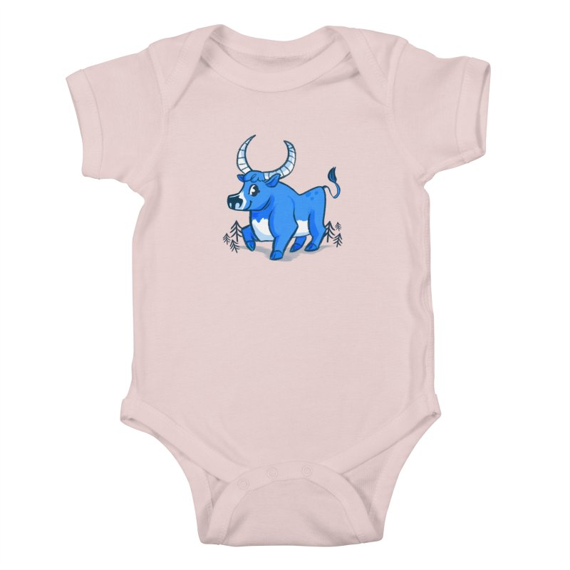 Babe the Blue Kids Baby Bodysuit by Kaija Lea Art Shop // Prints, Gifts + Home Goods
